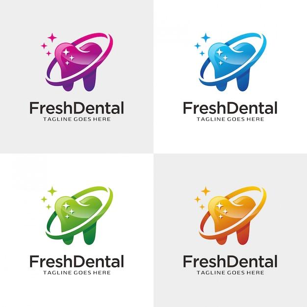 Dental logo Premium Vector