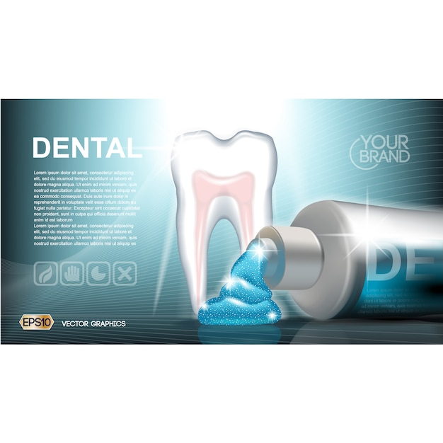 dentalcare brochure template vector free download