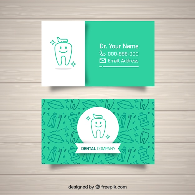Dentist business card template Free Vector