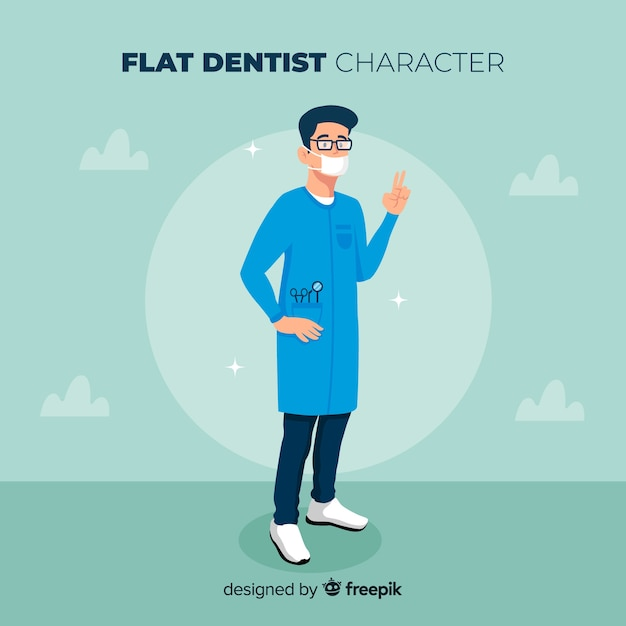 Dentist character Free Vector