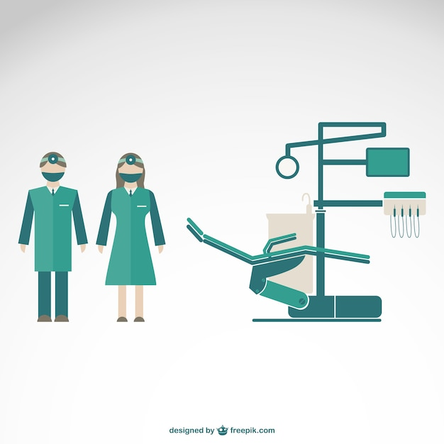Dentist clinic with male and female\ dentists