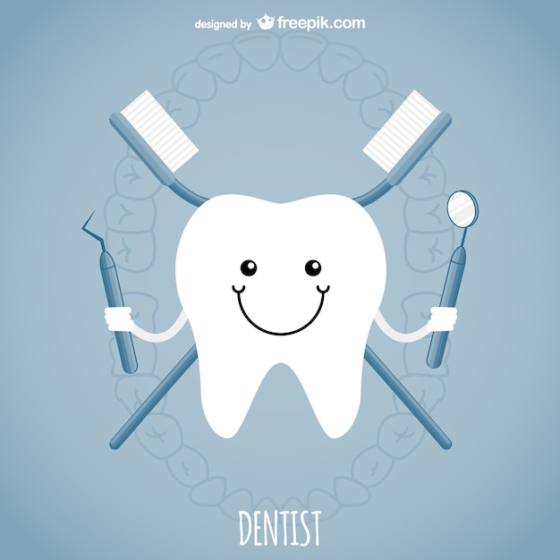 Dentist concept Free Vector