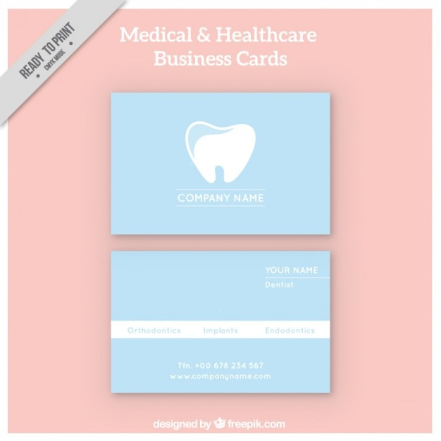 Dentist corporative card