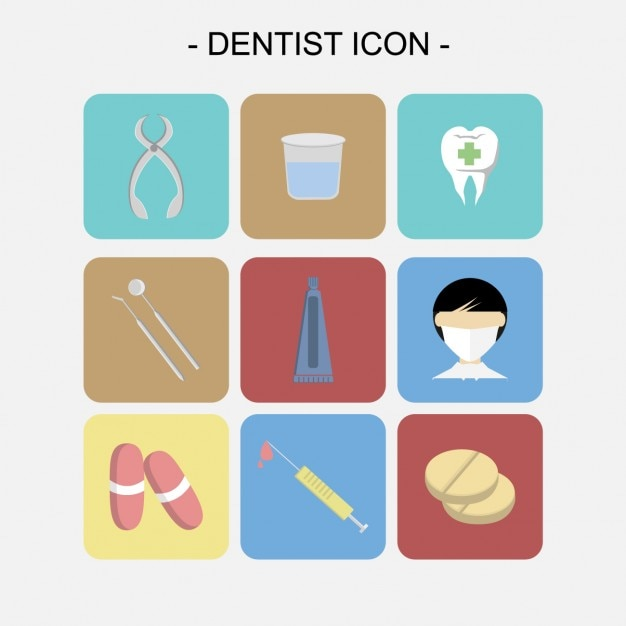 Dentist icons collection