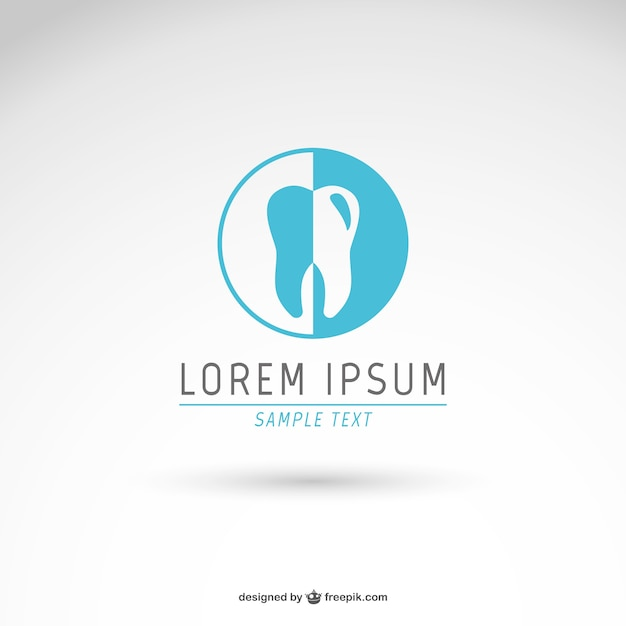 Dentist logo template Free Vector
