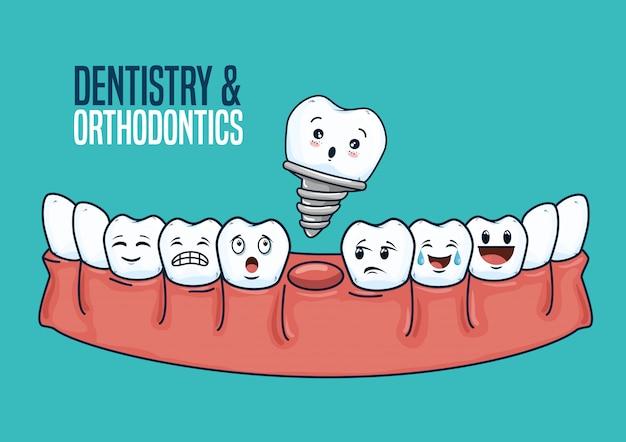 Оборудование для лечения зубов и ухода за зубами Бесплатные векторы