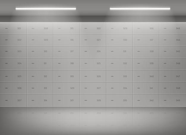 Deposit safe boxes in bank vault Free Vector