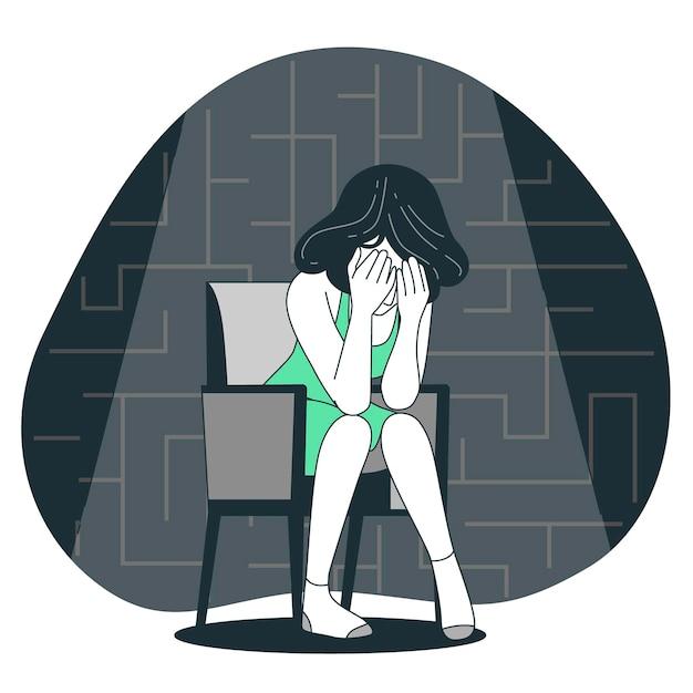 Depression concept illustration Free Vector