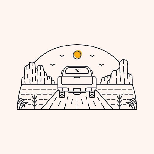 砂漠の冒険 Premiumベクター