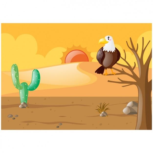Desert Background Design Vector Free Download