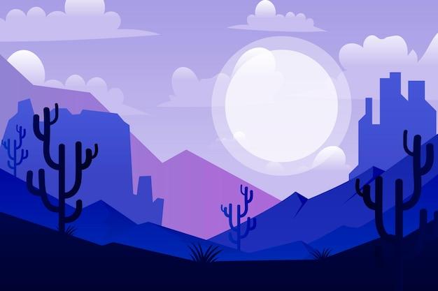 砂漠の背景ビデオ会議 無料ベクター
