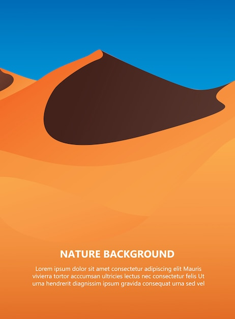 Desert background with text space vector Premium Vector