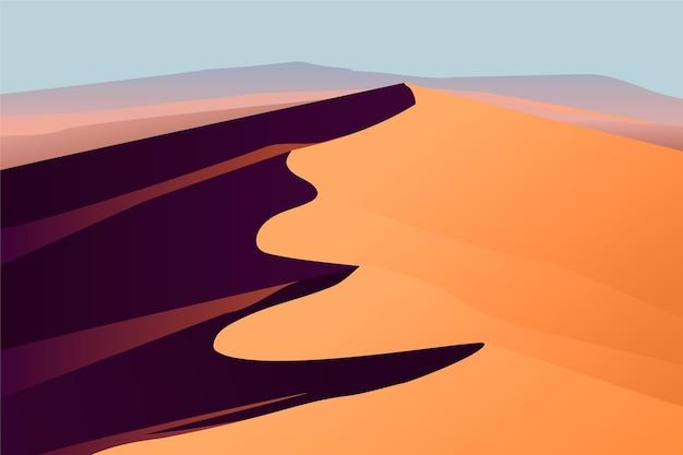 Desert landscape - background for video conferencing Free Vector