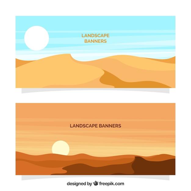 Desert landscape banners