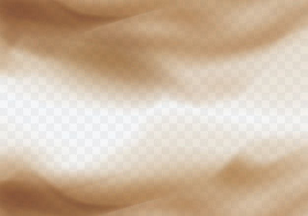 Desert sandstorm, brown dusty cloud on transparent Free Vector