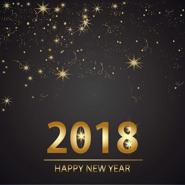 Счастливый новогодний фон desgin Бесплатные векторы