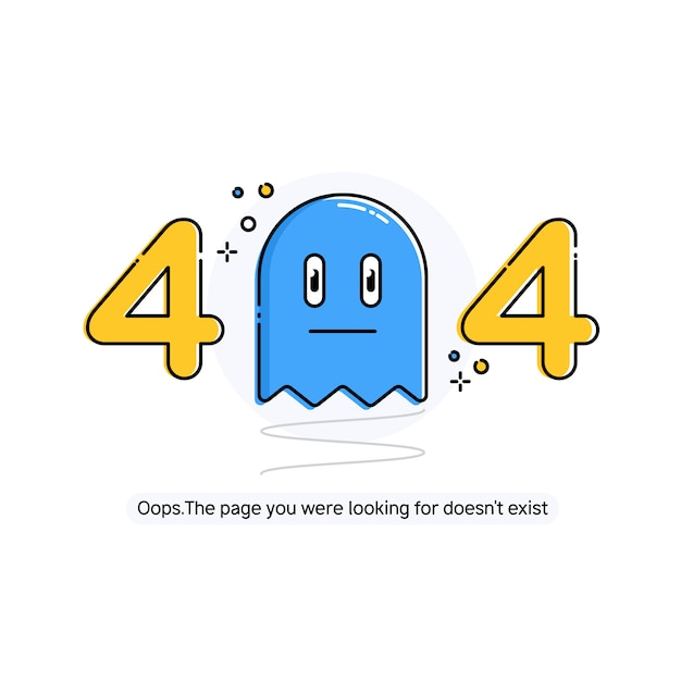 Design 404 error Premium Vector