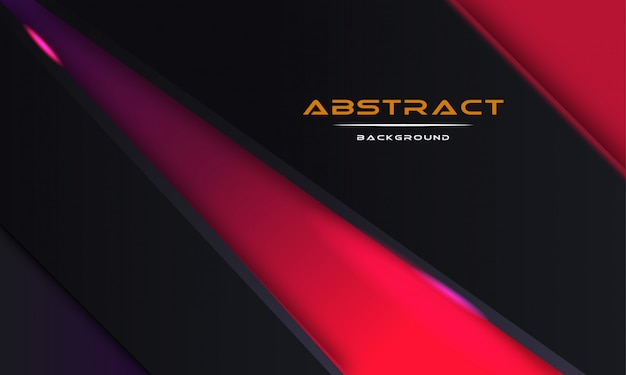 Design abstract 3d background with black paper layers Premium Vector