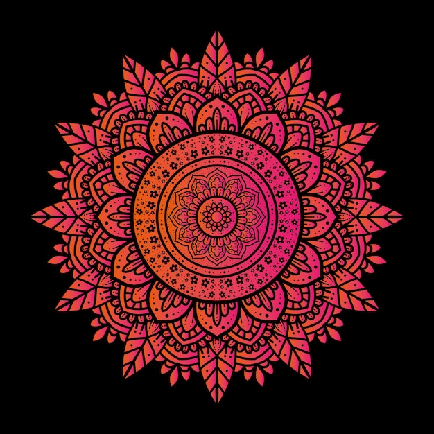 The design background of a luxury mandala ornament with a simple motif Premium Vector