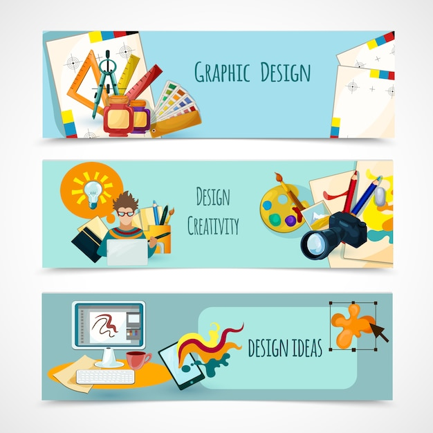 Design banners set Free Vector