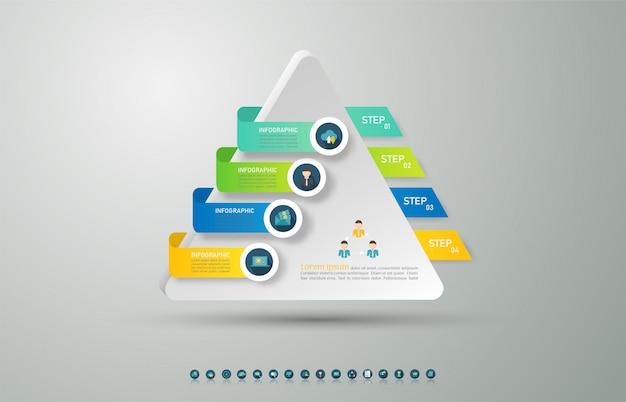 Design business template options infographic chart element. Premium Vector
