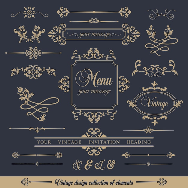 Design collection of ornamental frames Free Vector