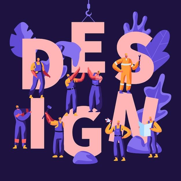 Design concept cartoon flat  illustration Premium Vector