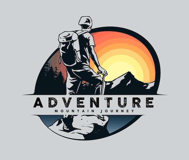 登山家のためのデザインコンセプト Premiumベクター