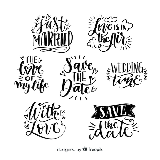 Design concept for lettering collection Free Vector