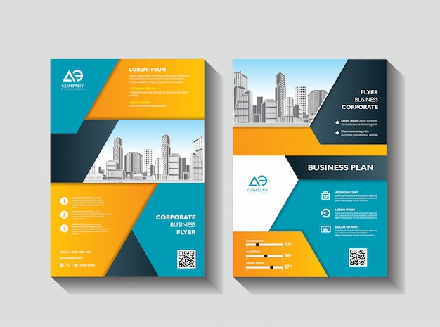 Design cover book brochure layout flyer poster background annual report Premium Vector