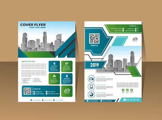 Design cover book brochure Premium Vector