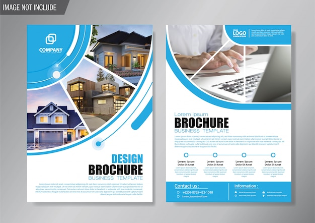 Design cover flyer and brochure business template for annual report Premium Vector