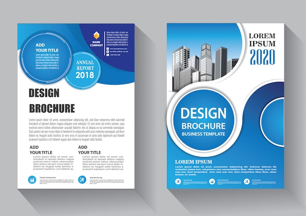 Design cover flyer business template for brochure and annual report Premium Vector