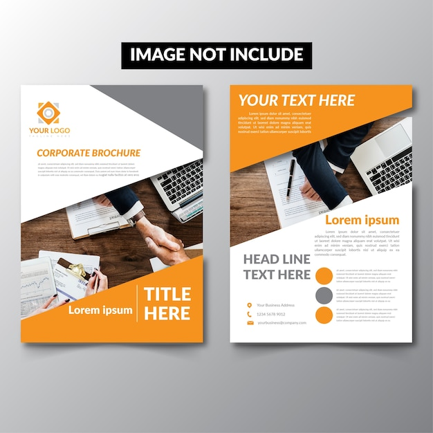 design cover magazine business brochure premium vector