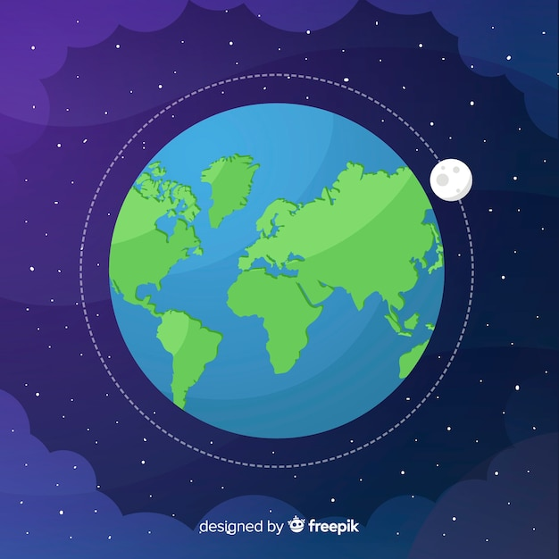 Design of earth in space Free Vector