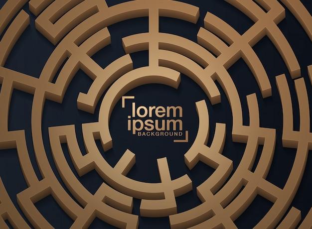 Design element background with maze texture Premium Vector