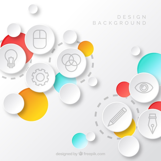 Design elements background Free Vector