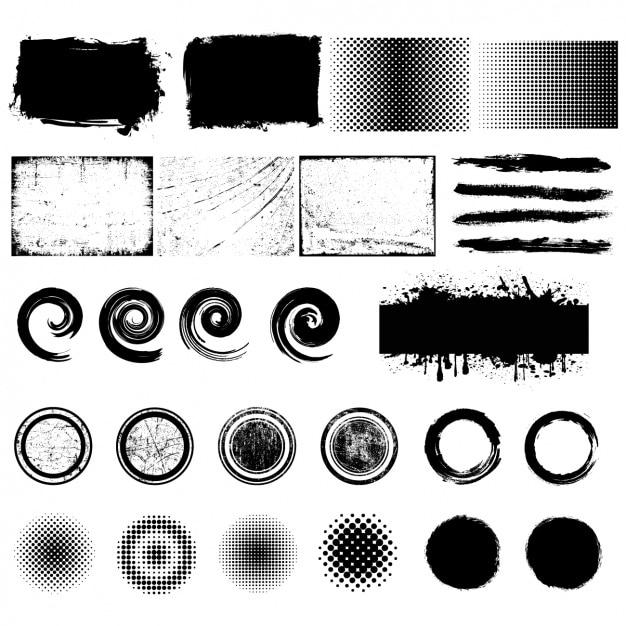 Коллекция элементы дизайна Бесплатные векторы