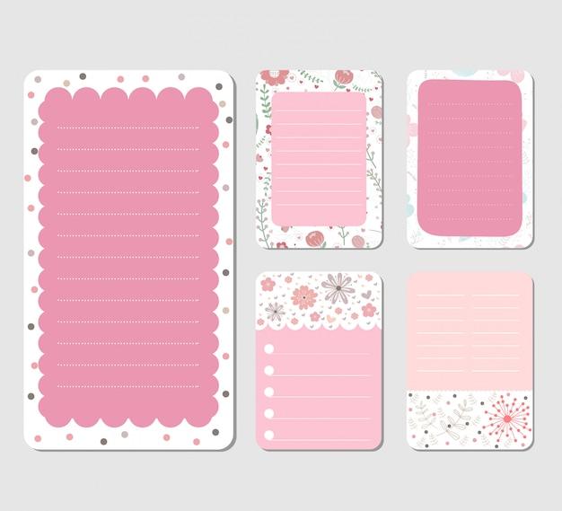 Design elements for notebook Premium Vector