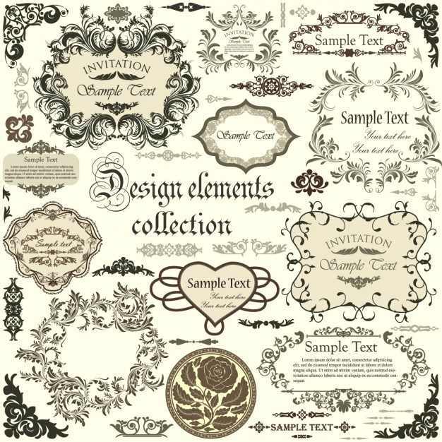 Design frames collection Vector | Free Download
