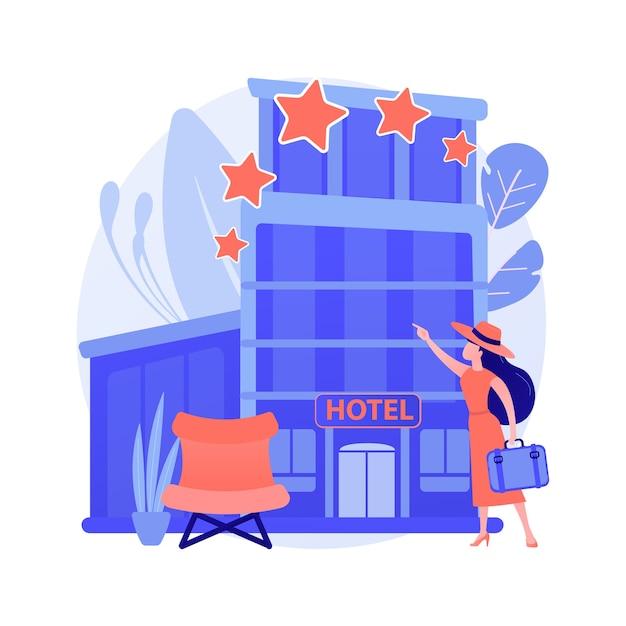 디자인 호텔 추상적 인 개념 그림 무료 벡터
