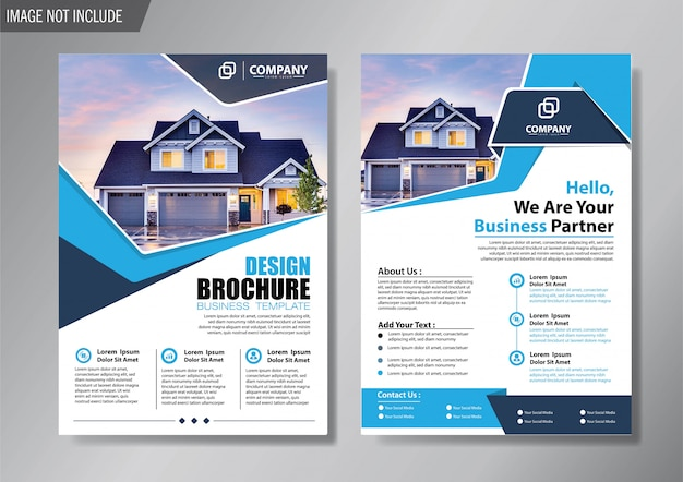Design layout cover flyer and brochure business template for background annual report Premium Vector