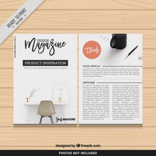 Design magazine template vector free download for Magazine layout templates free download