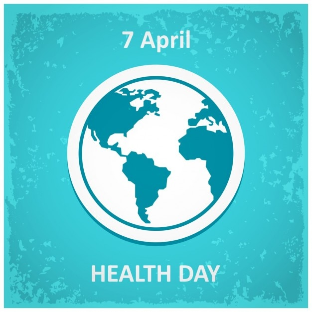 Design poster for world health day Free Vector