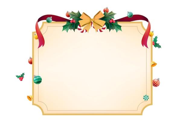 Spazio di design per il periodo natalizio Vettore gratuito