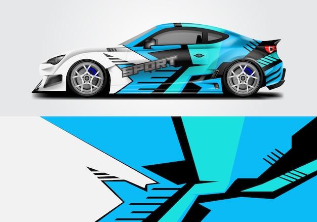 Design of sport car wrap Premium Vector