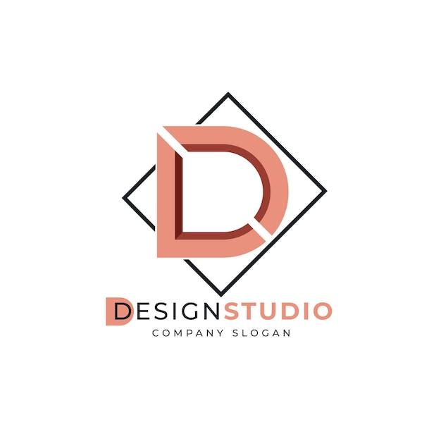 デザインスタジオのロゴのテンプレート 無料ベクター