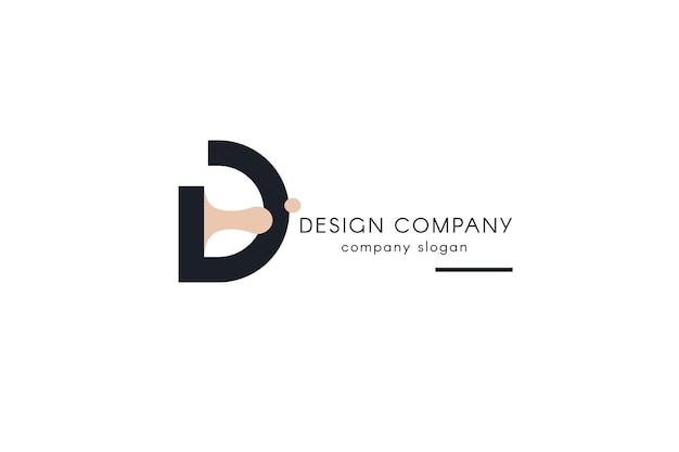 Design studio logotype template Free Vector
