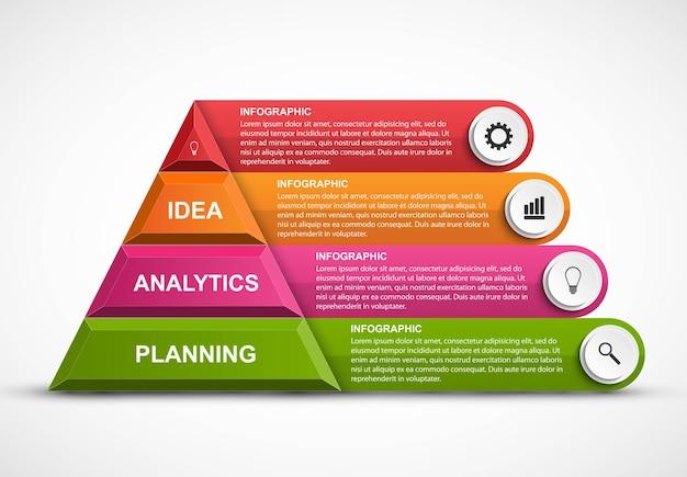 ビジネスプレゼンテーションや情報バナーのデザインテンプレート Premiumベクター