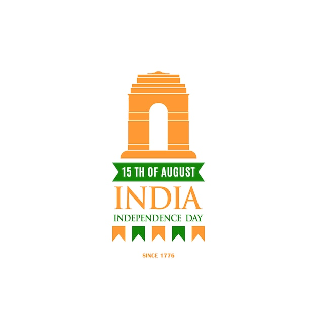 Design template for independence day of india. Premium Vector